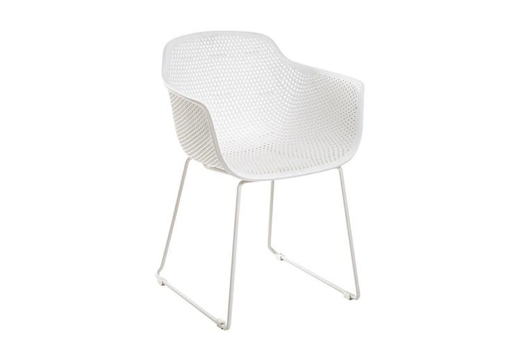 White Lilac Outdoor Dining Chair, White Patio Dining Chairs
