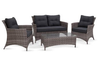 Santorini 4 Piece Outdoor Lounge Setting