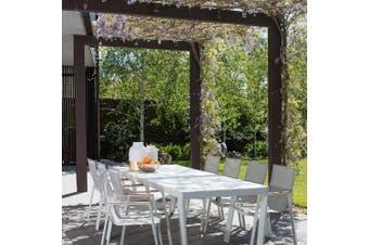 Excalibur Outdoor Living Venus 9 Piece Dining Set White