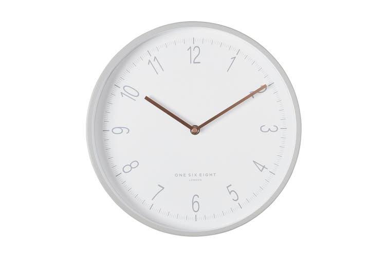 Elisa 30cm Cool Grey Silent Wall Clock Matt Blatt