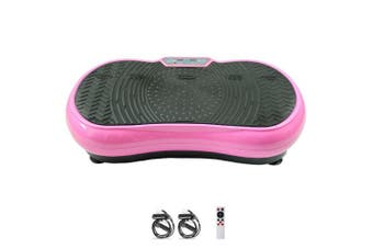 Pink Vibration Machine Platform Plate Vibrating Power Shape Exercise Fitness
