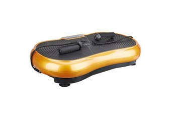 Gold Vibration Machine Platform Plate Vibrating Power Shape Exercise Fitness