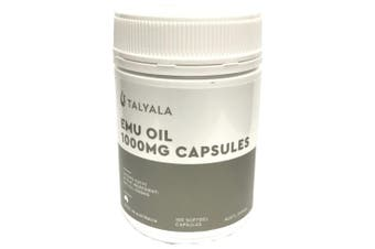 Emu Oil Capsules Pure 100 x 1000mg - Eczema Cholesterol Skin Hair Pain Arthritis