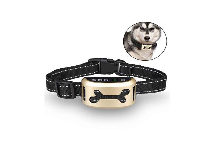 Anti Bark Dog Training Collar USB Rechargeable No Shock Stop Barking Vibration