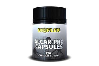 Alcar Supplement - 120 Capsules Bioflex Pro 700mg Carnitine Nutrition