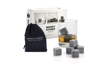 Whiskey Stones Ice Melts   9 Reusable Natural Marble Chilling Scotch Rocks Cubes