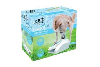 Dog Drinking Water Fountain Outdoor AFP Garden Push On Pet Sprinkler Dispenser