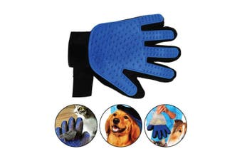 2in1 Pet Deshedding Massage Glove Dog Cat Hair Grooming Remover Right Hand Mitt