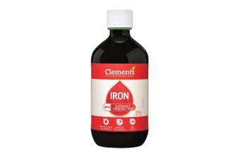 500ml Iron Oral Liquid Supplement Chelated Bisglycinate Ferrochel Clements