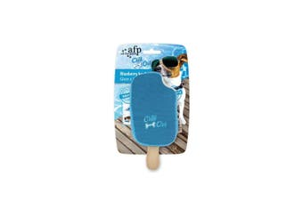 Dog Drinking Sponge Soak Blueberry Ice Cream Shape Chew Play Toy AFP Blue