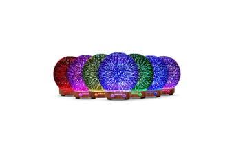 Essential Oil Aroma Diffuser Mirror Ball 3D Colour Fireworks Air Mist Humidifier