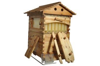 Auto Honey Beehive + 7 Frames Beekeeping Kit Langstroth Wooden Bee Hive Box