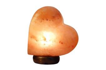 12V 12W Heart Himalayan Pink Salt Lamp Carved Rock Crystal Light Bulb On/Off Switch