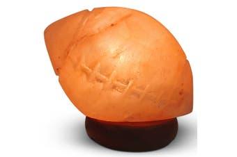 12V 12W Rugby Himalayan Pink Salt Lamp Carved Footy Rock Crystal Light Bulb On/Off