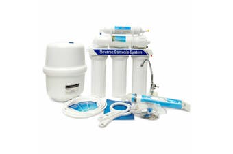 """5 Stage Reverse Osmosis Water Filter System 10"""" RO Membrane Undersink Purifier"""