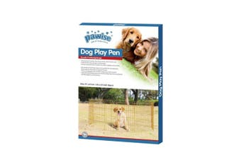 Pet Playpen Dog Cat Puppy Kitten Foldable Gold Metal Indoor Outdoor Fence Pawise - Large