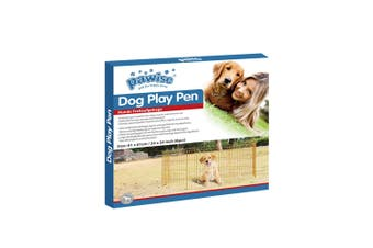 Pet Playpen Dog Cat Puppy Kitten Foldable Gold Metal Indoor Outdoor Fence Pawise - Small