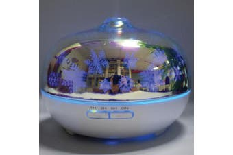 Essential Oil Aroma Diffuser 3D Glass Colour Changing | 300ml Aromatherapy Oils
