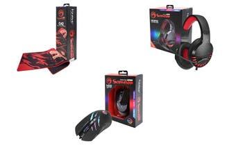 Marvo PC Gaming Bundle MIMAR-M312-BF Mouse SPMAR-HG8932-BF Headset & ACMAR-G42-BF Mousemat