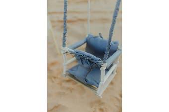 Wooden Baby Hammock Swing Blue/Grey