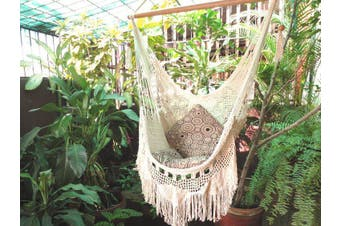 Luxury Boho Hammock Chair Beige