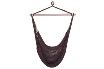 Mexican Hanging Hammock Chair Chocolate