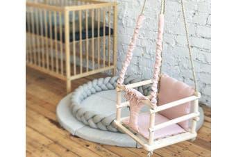 Wooden Baby Hammock Swing Light Pink