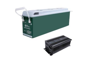 Pro Power 12V Volt 100ah Lithium Iron LiFePo4 SLIM Battery + 20A Charger