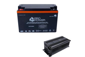 Pro Power 12V 110ah Lithium Iron LiFePo4 Deep Cycle Battery with Charger