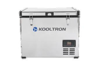 Kooltron 60L Stainless Steel Dual Compartment Fridge / Freezer Camping 12v24v 240v