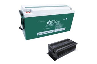 Pro Power 12V Volt 150ah Lithium Iron LiFePo4 Deep Cycle Battery + 20A Charger