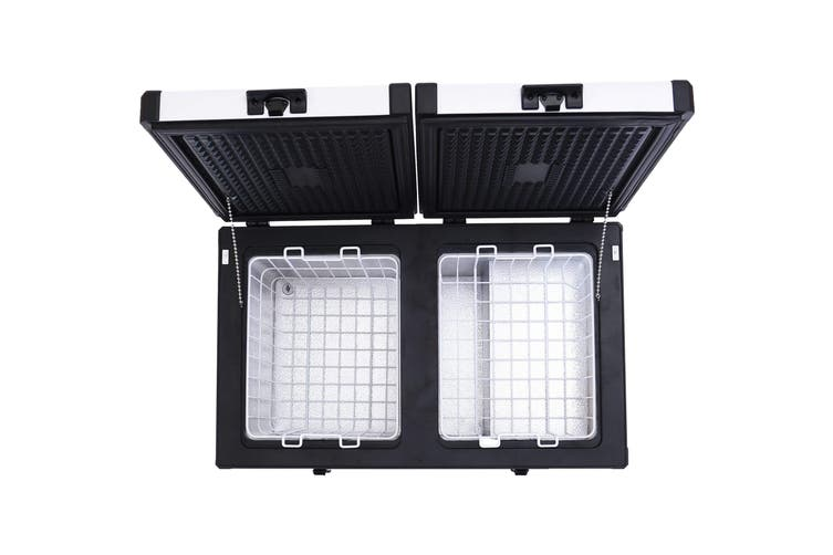 Kooltron Low Profile 72L 82L Portable Fridge / Freezer Camping 12v 24v 240v - 72L Double Compartment Double Door
