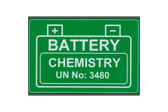 Lithium Battery UN 3480 Engraved Label