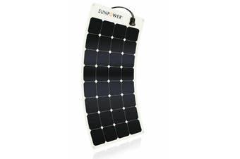 SunPower FLEXIBLE 110W Flexible Marine Monocrystalline Solar Panel