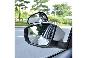 YASOKRO Car Mirror 360 Degree Adjustable Wide Angle Side Rear Mirrors blind spot Snap way for parking Auxiliary rear view mirror - Black-Left