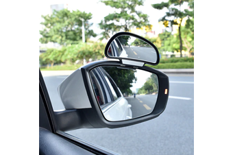 YASOKRO Car Mirror 360 Degree Adjustable Wide Angle Side Rear Mirrors blind spot Snap way for parking Auxiliary rear view mirror - Black-Right