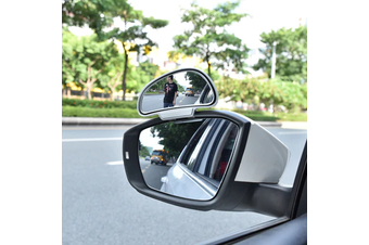 YASOKRO Car Mirror 360 Degree Adjustable Wide Angle Side Rear Mirrors blind spot Snap way for parking Auxiliary rear view mirror - Silver-Left