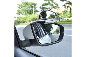YASOKRO Car Mirror 360 Degree Adjustable Wide Angle Side Rear Mirrors blind spot Snap way for parking Auxiliary rear view mirror - Silver- Right