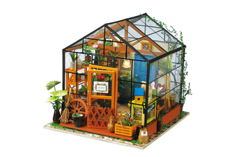 Robotime DIY Dollhouse Kit-Cathy's Flower House with LED light