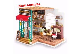 Robotime DIY Dollhouse Kit - Simon's Coffee
