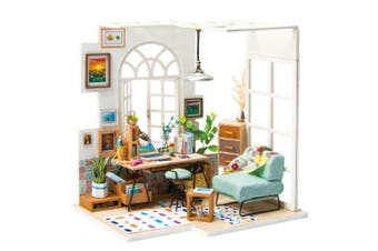 Robotime DIY Mini Dollhouse Building Model Home Decoration toys SOHO time