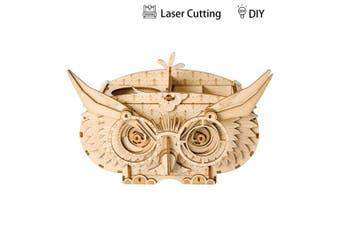 Robotime Modern 3D Wooden Puzzle-Non Animals Owl Box