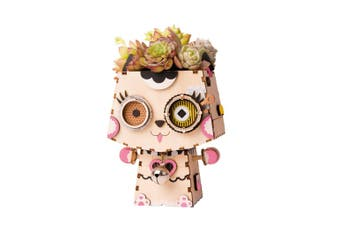 Robotime Cute Flower Pot - 3D Wooden Puzzle - Building Kits Toy Kitty