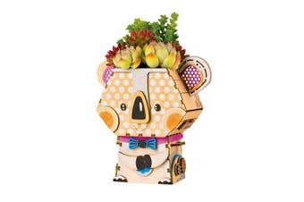Robotime Cute Robot Flower Pot - 3D Wooden Puzzle - Building Kits Toy Koala