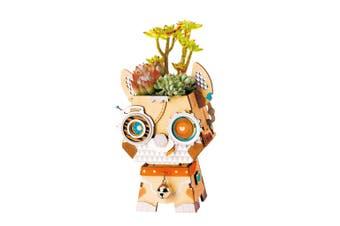 Robotime Cute Robot Flower Pot - 3D Wooden Puzzle - Building Kits Toy Puppy