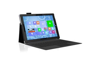 "Microsoft Surface Pro 7 (12.3"") Slim Folio Flip Case by MEZON – Compatible with Type Cover Keyboard – With Screen Protector and Stylus – Black"