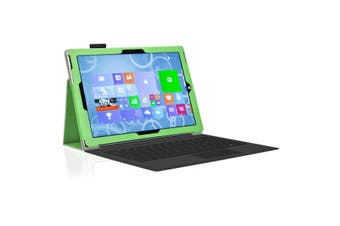 """Microsoft Surface Pro 7 (12.3"""") Slim Folio Flip Case by MEZON – Compatible with Type Cover Keyboard – With Screen Protector and Stylus – Green"""