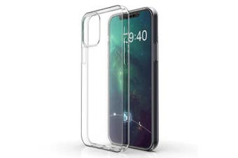 """Apple iPhone 12 (6.1"""") Ultra Slim Premium Crystal Clear TPU Gel Back Case by MEZON – Wireless Charging Compatible – With Screen Protector (iPhone 12, Gel)"""