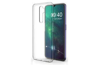 OPPO A9 2020 Ultra Slim Crystal Clear Premium TPU Gel Back Case by MEZON – Shock Absorption, Wireless Charging Compatible – With Screen Protector (A9 2020, Gel)