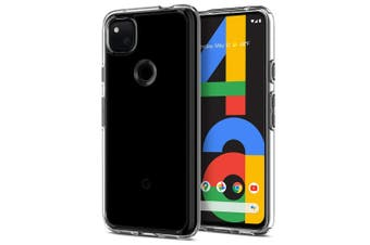"Google Pixel 4a (5.8"") Ultra Slim Premium Crystal Clear TPU Gel Back Case by MEZON – Shock Absorption, Wireless Charging Compatible – With Screen Protector (Pixel 4a, Gel)"